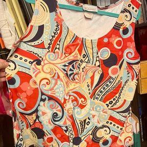 EUC Linda Lundstrom Colorful Top sz L/G